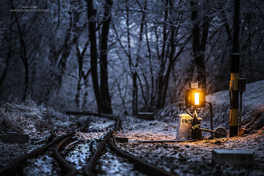 下一站冬天 火车做主角的主题摄影
